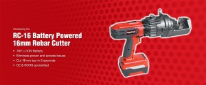 RC-16 Battery Powered 16 mm red rebar cutter
